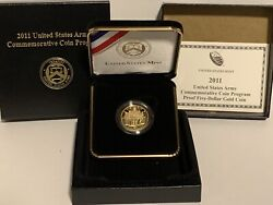2011-w Proof Army 5 Gold Commemorative Coin, Original Packaging And Coa