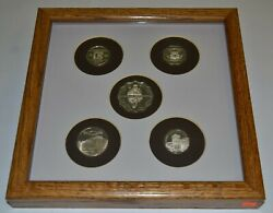 Franklin Mint Sterling Silver Official Gaming Coins Worldand039s Great Casinos Framed
