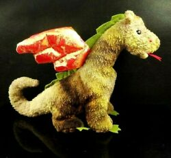 Ty Beanie Babies Collection Scorch The Dragon Retired Red Stamp P.e. Pellets