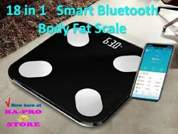 Smart New Digital Weight Scale And Bluetooth Results Analyzer Of 18 Body Indexes