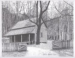 Cades Cove Cabin 1.gsmnp.lithograph Print8 X 10limited Edition.free Shipping