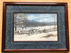 Jim Gray Cades Cove Winter Framed Matted S/n 926/1500 13h X 19.5w