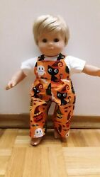 Custom For American Girl Bitty Baby Twin Boy Halloween Overalls Set doll clothes $9.50