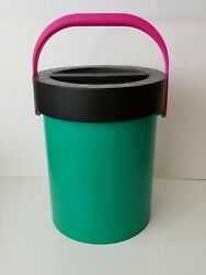 Vintage Retro Caboodles Lidded Shower Caddy Bucket With Handle Dorm Storage