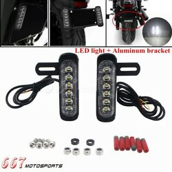 Motorcycle Auxiliary Brake Light Led Daytime Running Lights License Plate Lamp