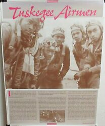 Tuskegee Airmen African American Military Poster 1998