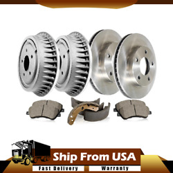Front Rear 6x Centric Brake Drum+pad+rotor+shoe Fits Voyager 2001 2002_wt