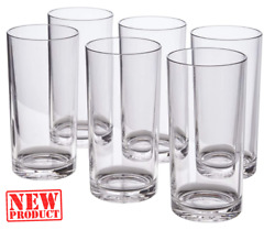 Set Of 6 Everyday Drinking Glasses Large Thick Tumblers Drinkware 16 Oz.