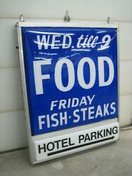 Vintage Food Sign, Lighted, Seymour Hotel Of Wisconsin