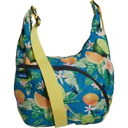 Kavu SINGAPORE SATCHEL Women#x27;s Crossbody Canvas Purse Shoulder Bag OCEAN CITRUS $36.00