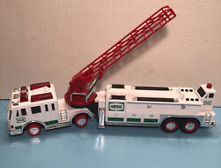 """2000 Hess Gas Station Toy Fire Truck With Sounds And Lights 16"""" Long"""