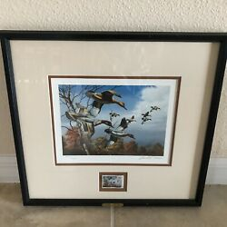 David A.maass Third Annual Ducks Unlimited Lithograph Print And Stamp Signed