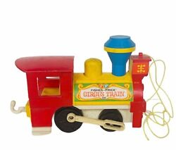 Fisher Price 1960s Pull Toy Antique Vtg Circus Train Little People 991 Carnival