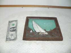 Vintage Ornawood Sailboat 1959 Made In Usa