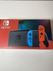 Nintendo Switch 32gb Console V2 Neon Blue/red Brand New In Hand Ships Same Day