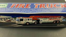 2000 Hess Toy Truck Fire Truck Emergency Rescue New Gas Oil Station