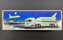 1999 Hess Toy Truck W Space Shuttle And Satellite New Gas Oil Station Nasa