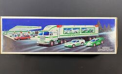 1997 Hess Toy Truck W Race Cars New Gas Oil Station Indy Nascar Racing Formula