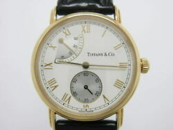And Co. Classic Hand Winding Silver Dial Power Reserve Yellow Gold Men's