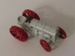 Vintage Diecast Fordson Toy Tractor - Red And White Paint