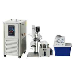 5l Rotary Evaporator Complete Turnkey Package W/ Water Vacuum Pump And Chiller