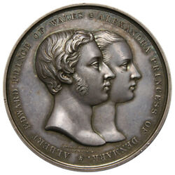 Great Britain, Albert Edward And Alexandra Marriage, 10 March 1863, Silver Medal