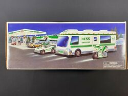 1998 Hess Toy Truck Recreation Van W Dune Buggy Motorcycle New Gas Oil Station