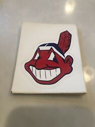 Cleveland Indians Chief Wahoo Banned Sticker Deadstock Vintage 1980's Rare