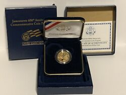Us 2007 W Jamestown 400th Anniversary 5 Five-dollar Proof Gold Coin Ogp
