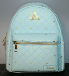 Loungefly Mini Backpack Cinderella#x27;s Castle Blue New w Tags NWT Disney Parks $59.99
