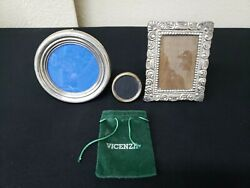Antique Silver Portrait Family Photo Picture Frame Lot Bundle Of 3 Preowned Cond