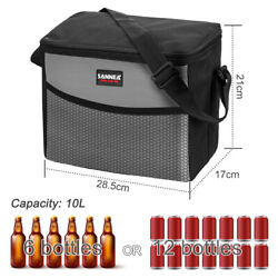 Insulated Lunch Bag Dual Compartment Cooler Tote Bag for Men Women Adult Strap $8.54
