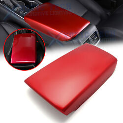 For Honda Accord 2018-2020 10th Gen Red Abs Center Armrest Box Panel Cover Trim