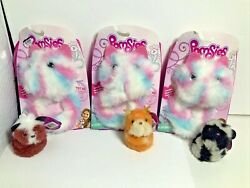 Pomsies Interactive Plush Pet Peppermint And Pomsie Poos Scout Dash Moon - Lot