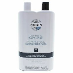 System 2 Cleanser Scalp Therapy Conditioner Duo By Nioxin For Unisex - 33.8 Oz