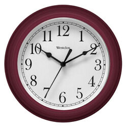 Westclox Wall Clock Simplicity Analog Round Home Office Clock 46983 Burgundy