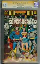 Dc 100 Page Super Spectacular 6 Cgc 8.5 Cr/ow Pages // Signed By Neal Adams