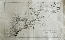 Antique Map Of The Raritan River, New Jersey To Maryland, 1807