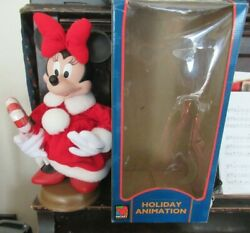 Disneyand039s Holiday Animation Minnie Mouse In Box Tested Works