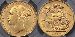 Great Britain 1884 Sovereign - Pcgs Ms62