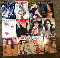 Playboy Magazine Full Year Set 1988 All 12 Issues. Complete Collection. Nude Lot