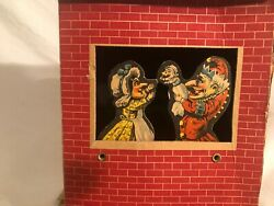 1920's Empire Litho Punch And Judy Cardboard Puppet Show Rare Vintage Toy