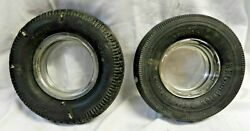 Vintage Goodyear And Copper Rubber Tire Ashtrays Glass Ashtray Included Vintage