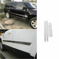 For Jeep Patriot 2011-2015 2016 Abs Chrome Car Body Door Side Molding Sill Guard