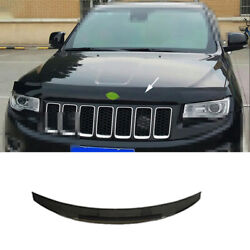 For Jeep Grand Cherokee 2014-2016 Black Front Grille Grill Engine Hood Cover Abs