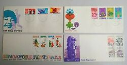 Singapore 1971-73 X 4 Older First Day Cover - Festivals National Day Landmarks
