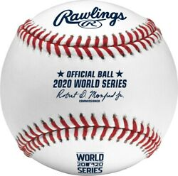 2020 World Series Mlb Rawlings Official Baseball Los Angeles Dodgers And Rays