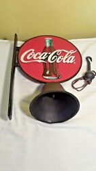 Cast Iron Coca-cola Wall Mount Bell W/ Ringer