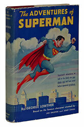 Superman George Lowther First Edition 1st Printing 1942 Dust Jacket
