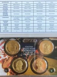 2010 Partial Proof Set 4 Coin Set 1 Presidential Coins Us Mint No Box Or Coa